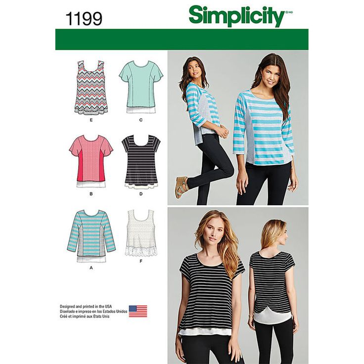 Perfect Simplicity Pattern 1199 Knit Tops For Miss And Plus Sizes