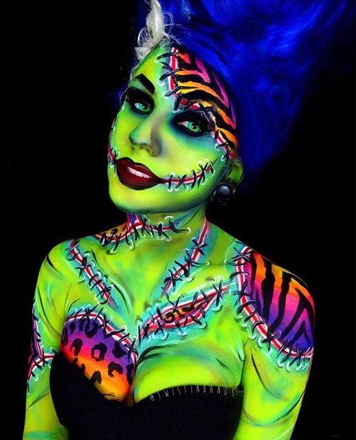Neon bride of Frankenstein