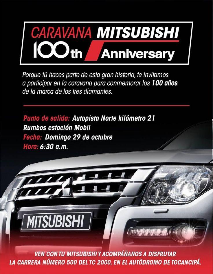 Mitsubishi celebra su cumpleaños número 100 con caravana