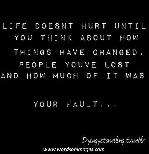 It's my fault I lost you. I shouldn't have said that. I'm sorry