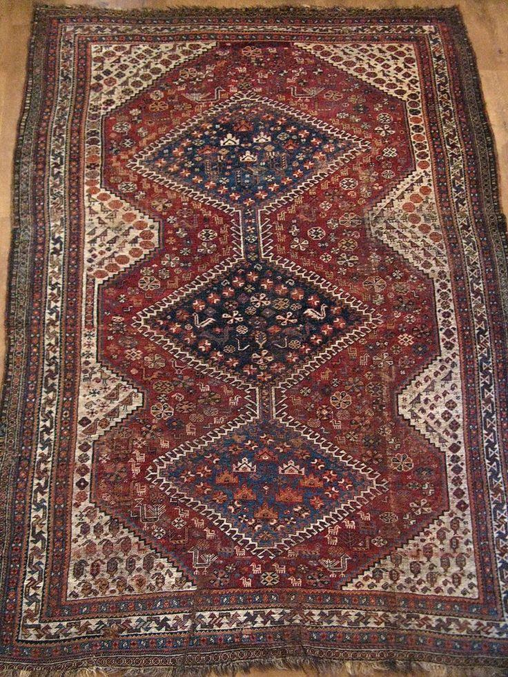 Персидский ковер «Кашкай» II половины XIX века.