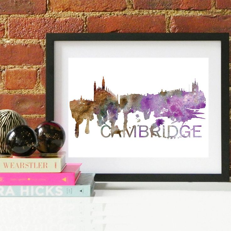 15.00$ - Cambridge Art, Cambridge Skyline, Cambridge map, Cambridge skyline, Cambridge map print