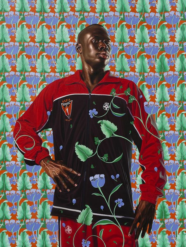 """KEHINDE WILEY """"FERDINAND-PHILIPPE-LOUIS-HENRI, DUC D'ORLÉANS"""" b.1977 Oil on canvas 83 by 62 in. 210.8 by 157.5 cm.  Drake's Pick: ASAP Rocky – """"Multiply"""""""