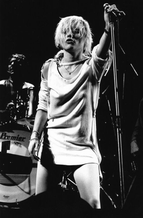 Debbie Harry - Blondie. She makes me want to bleach my hair. Again.