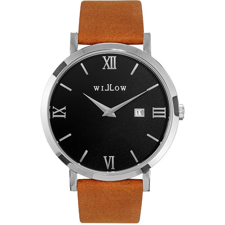 Willow Treviso Watch in Silver w/ Tan Leather Strap | Buy Women's Watches