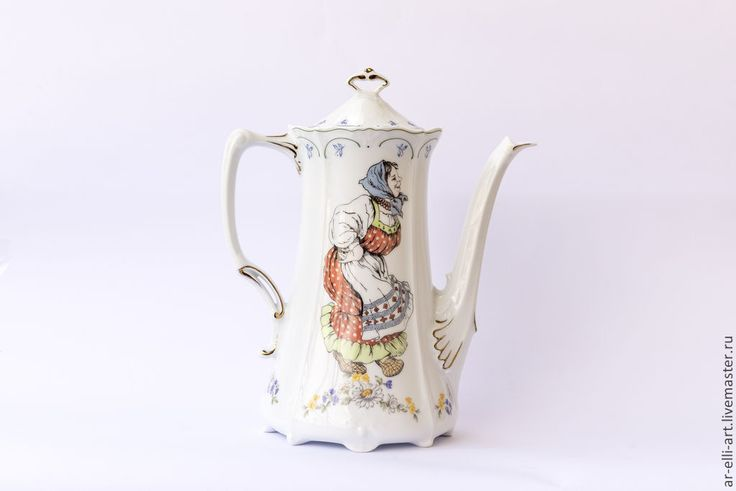 Купить Фарфоровый чайник. Русская лезгинка - разноцветный, фарфоровая посуда, фарфоровый чайник