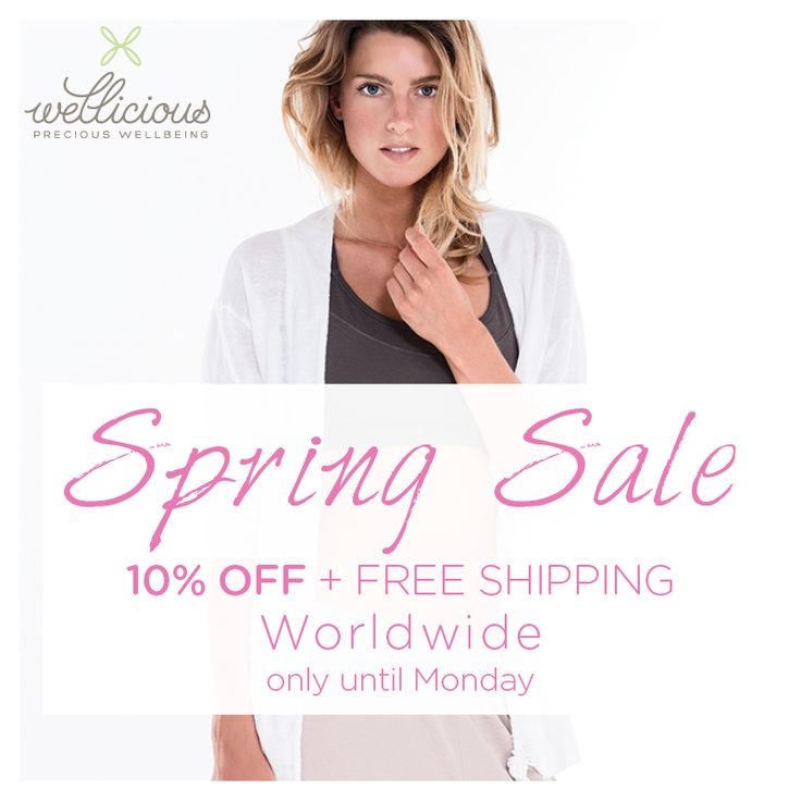 SPRING SALE! This weekend we are offering 10% off selected Spring styles plus FREE shipping* until Monday!  Shop now: www.wellicious.com/springsale2015.html  *terms & conditions apply, see website for more details.