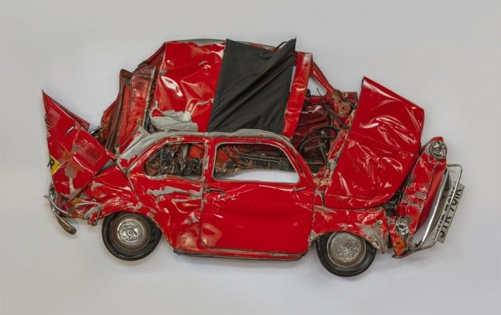 Ron Arad. Red Fiat 500 in 2D