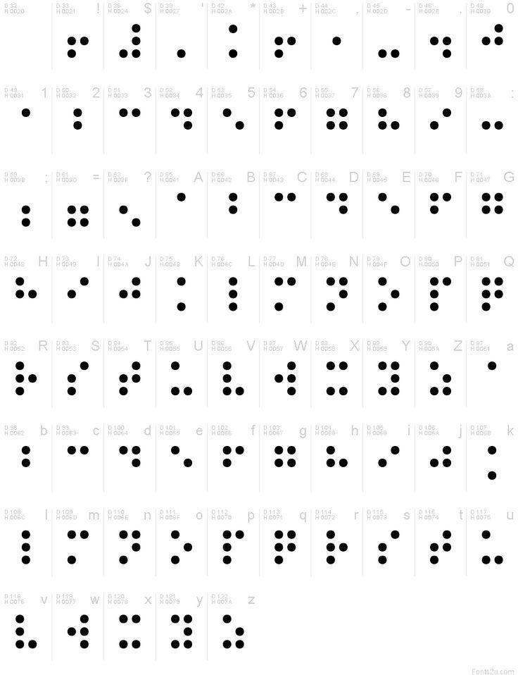 Normale Blindenschrift Machen Blindenschrift Schrift