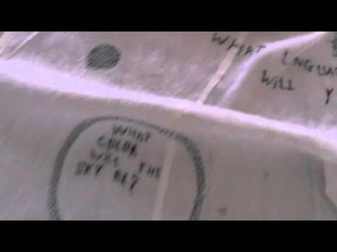 Rieko KOGA - Future Diary Movie [2012 ]--installation, hand embroidery on cotton