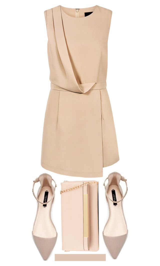 """""""#OOTD"""" by randomfashioncollections ❤ liked on Polyvore featuring Blaque Label, ALDO, simple, ootd and nude"""