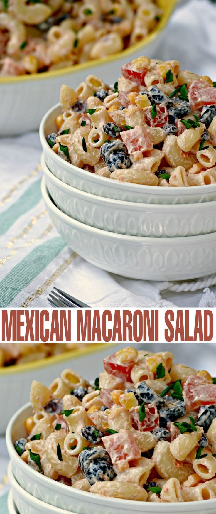 This Mexican Macaroni Salad recipe is a very versatile summer salad perfect for picnics and barbecues. I love serving it at family BBQ's as…