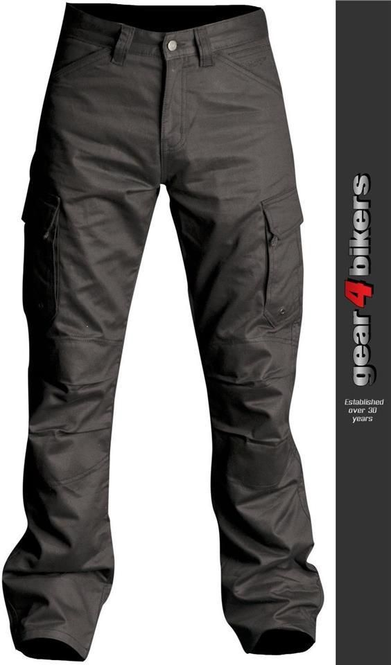 RST Kevlar Cargo Jean Black Knee Armour Motorcycle Armoured Pant Trousers Combat