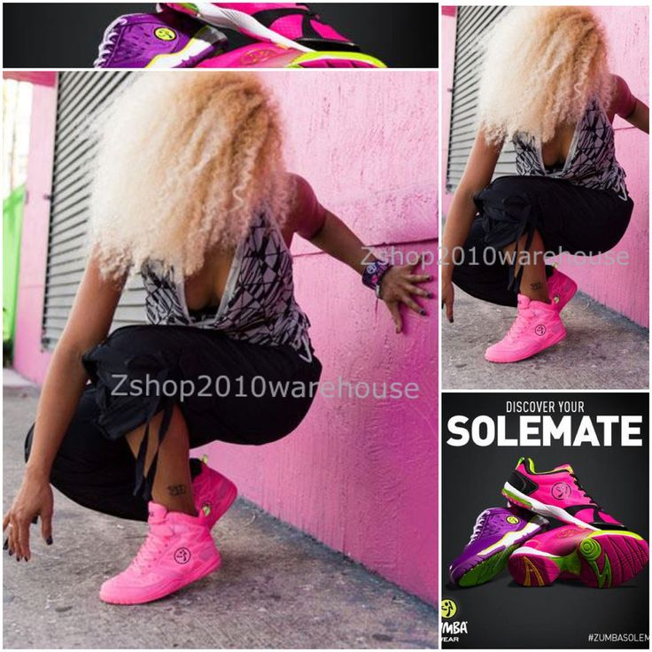 Zumba Energy Rush Shoes High Top Trainers Cerise Pink