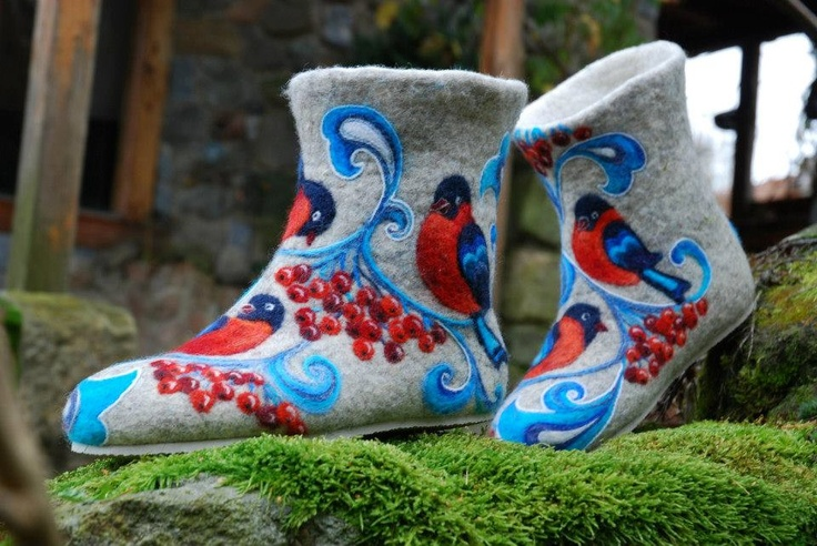 Felted Low shoes- Blue Spirit grey MADE TO ORDER. $270.00, via Etsy.