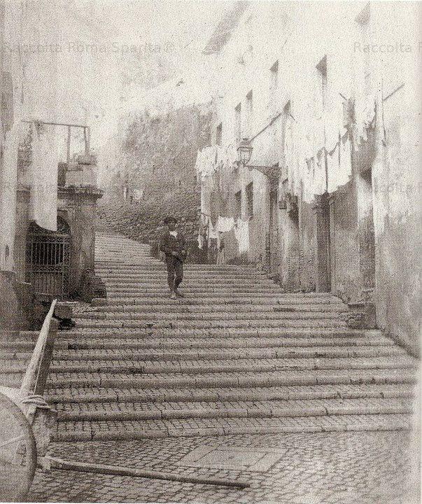 Roma Sparita - Salita Sant'Onofrio al gianicolo 1880 Fotografo Roesler fRANZ