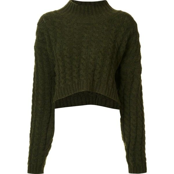 Vivienne Westwood Anglomania cropped jumper ($545) ❤ liked on Polyvore featuring tops, sweaters, shirts, green, green sweater, crop top, green jumper, vivienne westwood anglomania and cropped jumper
