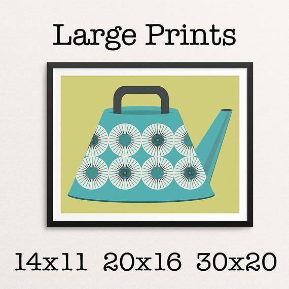 Large Print Sizes Minimalist Modern Mid Century Modern Tea Lovers Wall Decor Art Print Digital Prin Large Prints Poster Size Prints Colorful Backgrounds