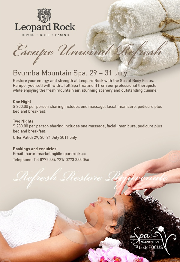 Bvumba Mountain Spa Ad