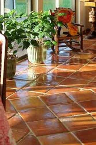 Pisos de barro clay floor tiles bathrooms home decor - Piso de barro ...