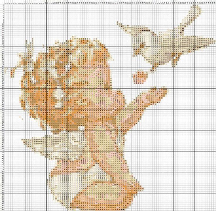 Ангелочки - 19 схем для вышивки крестом