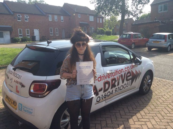 "THE PRACTICAL DRIVING TEST SUCCESS KEEPS COMING!!  Another huge congratulations to Maddi Hadley who passed her practical driving test 16/5/14 at Northampton DTC with Andrew Batty of www.adrivetuition.co.uk  Maddi said "" Just want to say Thankyou so much for being an awesome instructor and having the patience of a saint!! I'll book a motorway lesson soon too! Thankyou!!!! ☺️"