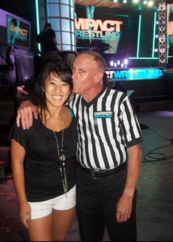 Referee Earl Hebner & his daughter Katie
