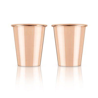 Viski Summit Solid Copper Shot Glass - Set of 2 - 4325