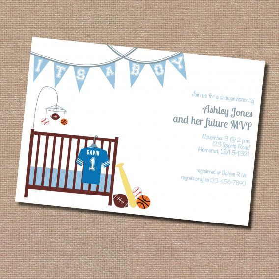 11 best sports theme baby shower images on pinterest | boy baby, Baby shower invitations