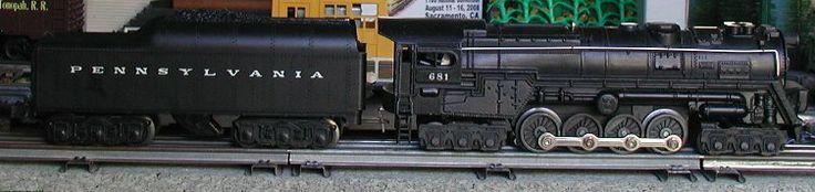 Lionel postwar # 681 Pennsylvania 6-8-6 steam turbine engine.