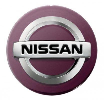 Nissan Black Purple Centre Cap, Alloy Wheel - KE409BPURP