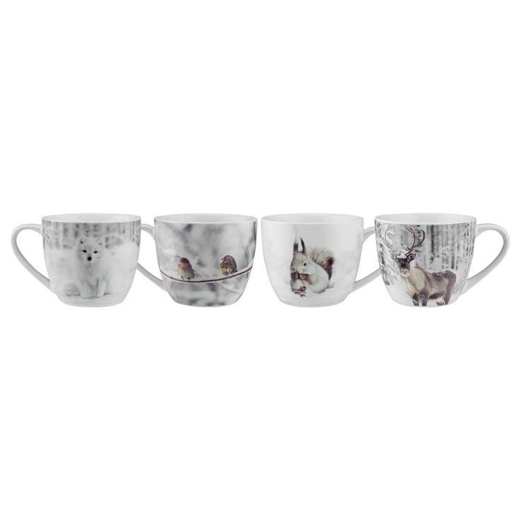 Ensemble de 4 tasses Snowy Nature