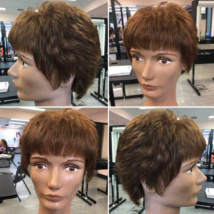Uniformly layered hair cut /short