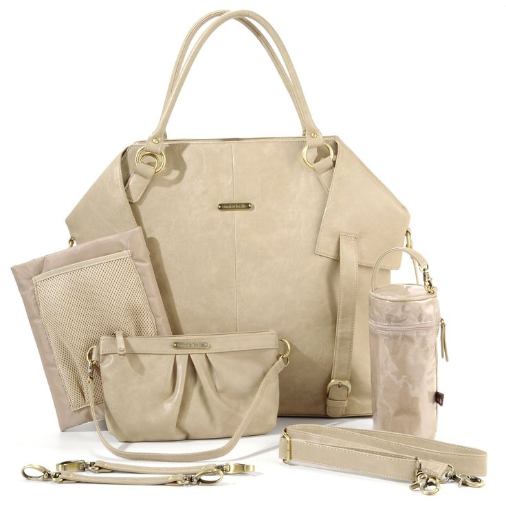 Have to have it. Timi and Leslie Charlie Tote Diaper Bag - Light Brown $159.99