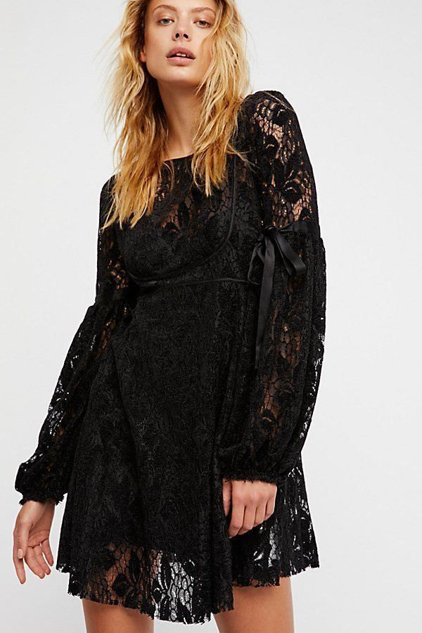 18fde94f8788 Free People Ruby Mini Dress S Small NWT Black  FreePeople  Minifitandflare