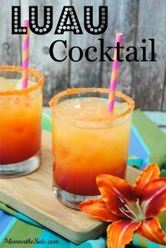 Luau Cocktail - Great adult summer beverage for parties!