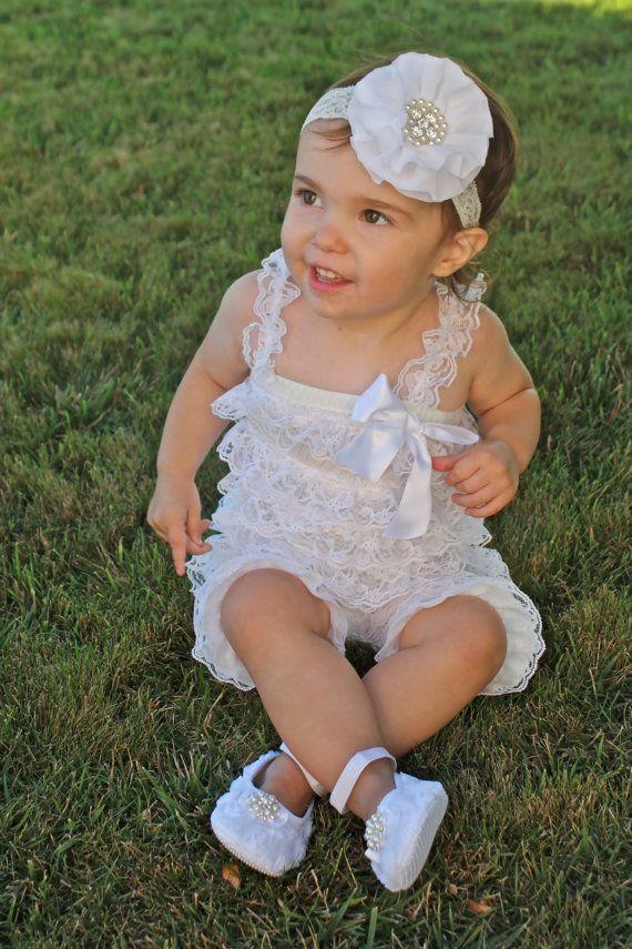 Mameluco blanco conjunto bebé mameluco por RoyalSistersBoutique