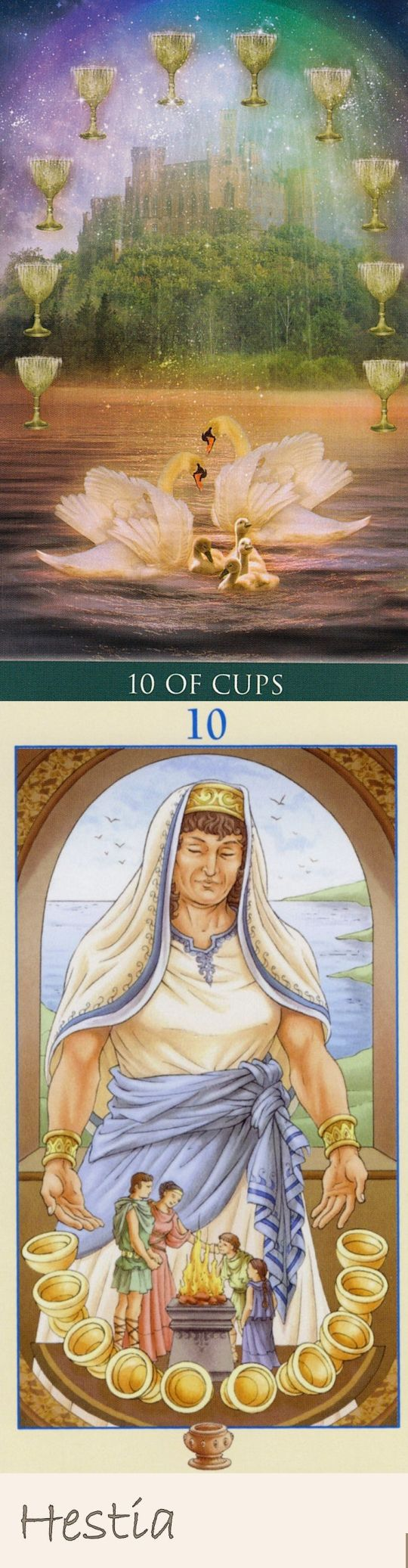Ten of Cups: contentment and bad relationships (reverse). Thelema Tarot deck and Universal Goddess Tarot deck: tarot holder, tarot deck cards vs tarot handbook angeles arrien. Best 2017 witches and halloween costumes. #thestar #ritual #spells #death #halloweencostume #tarotchart