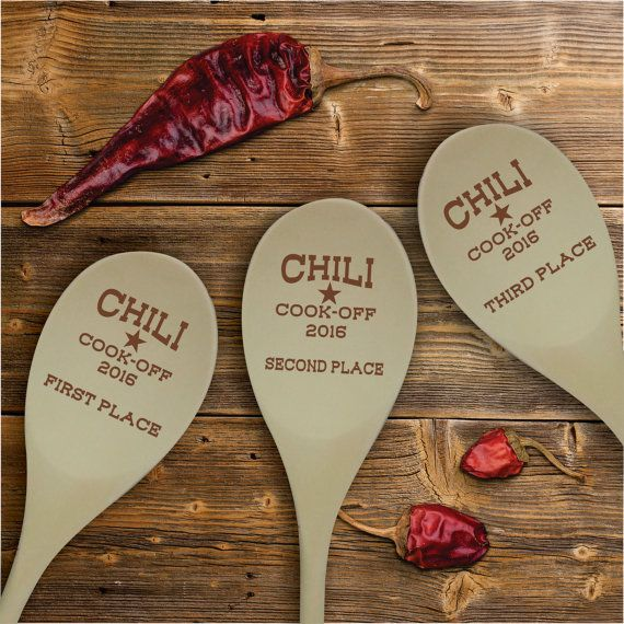 Chili Cook Off Contest Wooden Spoon Prize, Personalized Chili Cook-off Awards
