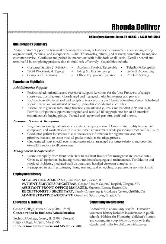 Sample Skill Resume. Skills Based Resume Template Administrative ...