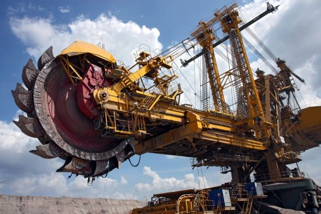 coal digger mining machine excavator.This is a bucket wheel excavator