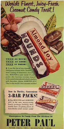 Mounds & Almond Joy Magazine Ad