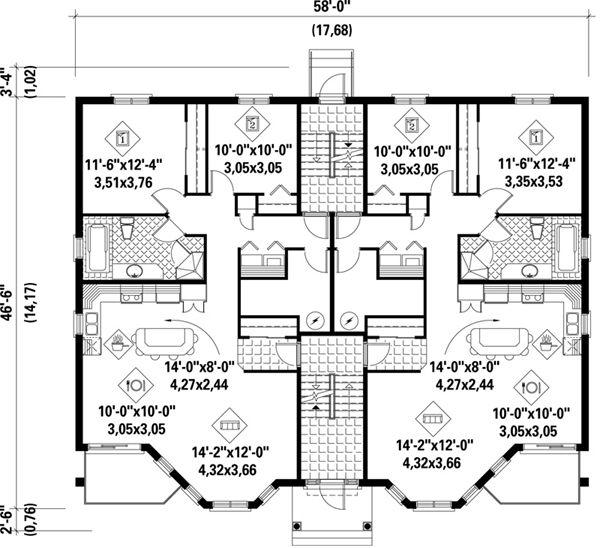 17 best images about modern minimalist on pinterest for Apartment plans 8 plex