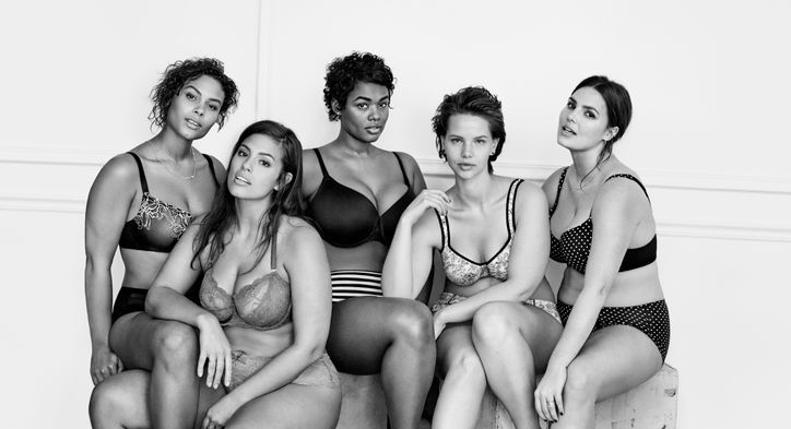 Lane Bryant's inspiring #ImNoAngel campaign featuring models Ashley Graham, Marquita Pring, Candice Huffine, Victoria Lee, Justine Legault, and Elly Mayday