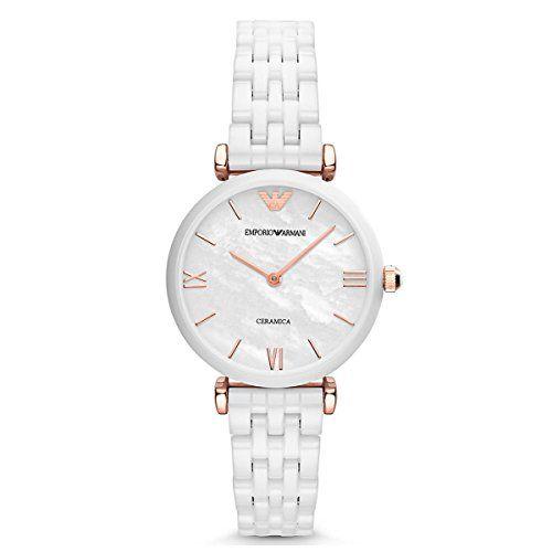 Emporio Armani Women's AR1486 Dress White Ceramic Watch
