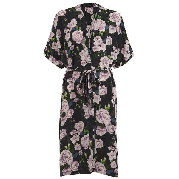 MINKPINK Women's Garden Robe ($31) ❤ liked on Polyvore featuring intimates, robes, multi, kimono robe, floral dressing gown, floral print robe, robe kimono and kimono dressing gown