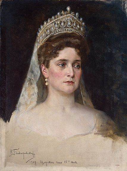 Empress Alexandra Feodorovna is best remembered as the last Tsarina of Russia, as one of the most famous royal carriers of the haemophilia disease, & for her support of autocratic control over the country. Her notorious friendship with the Russian mystic, Rasputin, was also an important factor in her life.  She had 5 children: Grand Duchess Olga Nikolaevna,  Grand Duchess Tatiana Nikolaevna,  Grand Duchess Maria Nikolaevna,  Grand Duchess Anastasia Nikolaevna, and  Tsarevich Alexei…