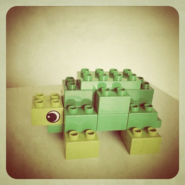 Finn's Tortoise. DIY toy for my baby in #Lego #Duplo