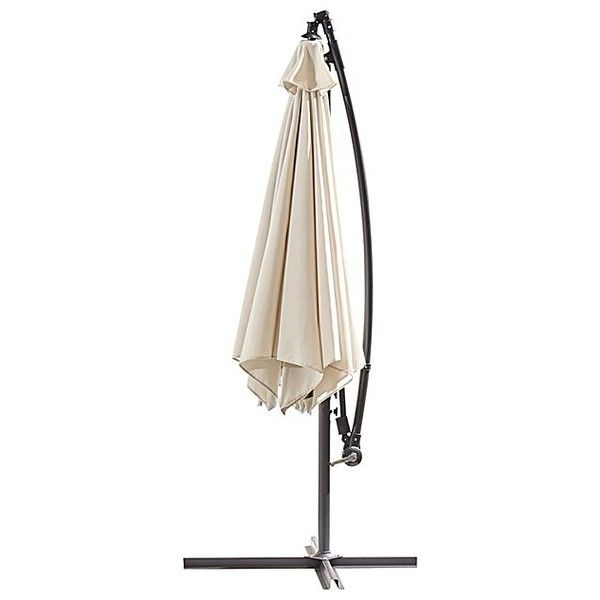 Powder Coated Cantilever 3M Parasol ($89) ❤ liked on Polyvore featuring home, outdoors, 3m, ivory parasol, cantilever parasol and garden parasols