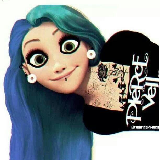 Gallery For &gt Punk Disney Princess Rapunzel